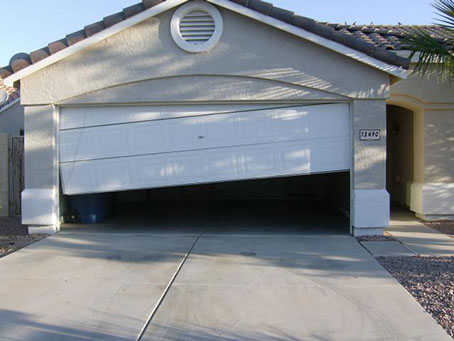 Garage door repair door jam in Hollywood